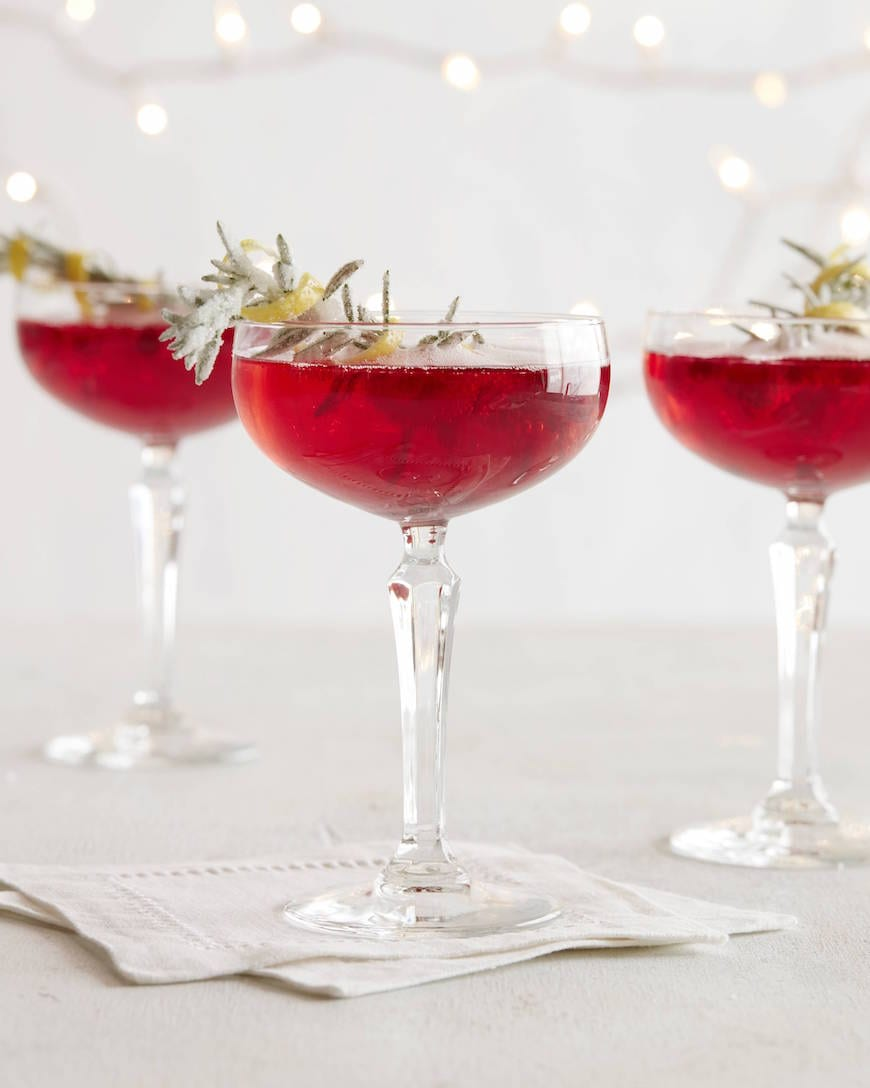 Pomegranate Champagne Spritzer from www.whatsgabycooking.com (@whatsgabycookin)