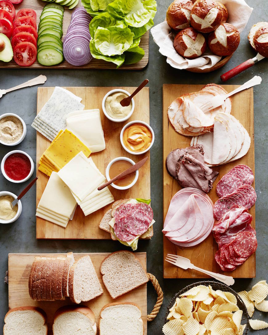 Game Day Sandwich Bar from www.whatsgabycooking.com (@whatsgabycookin)