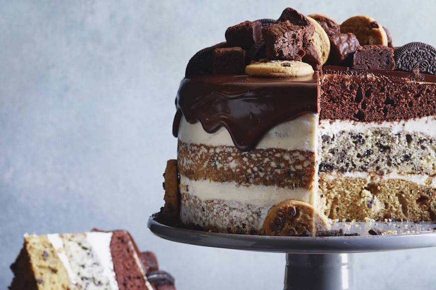Triple Layer Fudge Cake