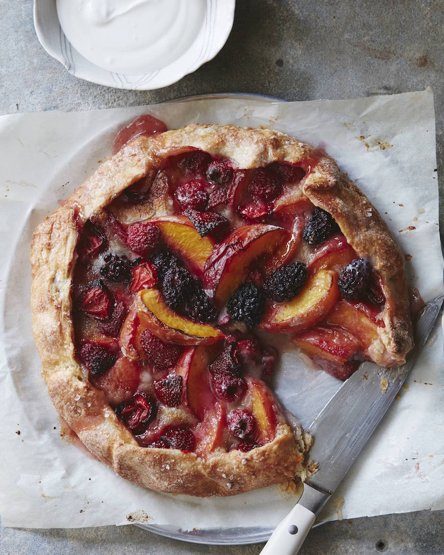 Mixed Berry Peach Galette from www.whatsgabycooking.com (@whatsgabycookin)