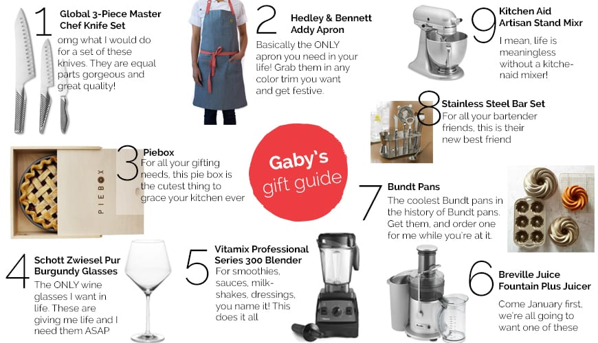 Gaby's Guide Guide - Kitchen Splurges from www.whatsgabycooking.com