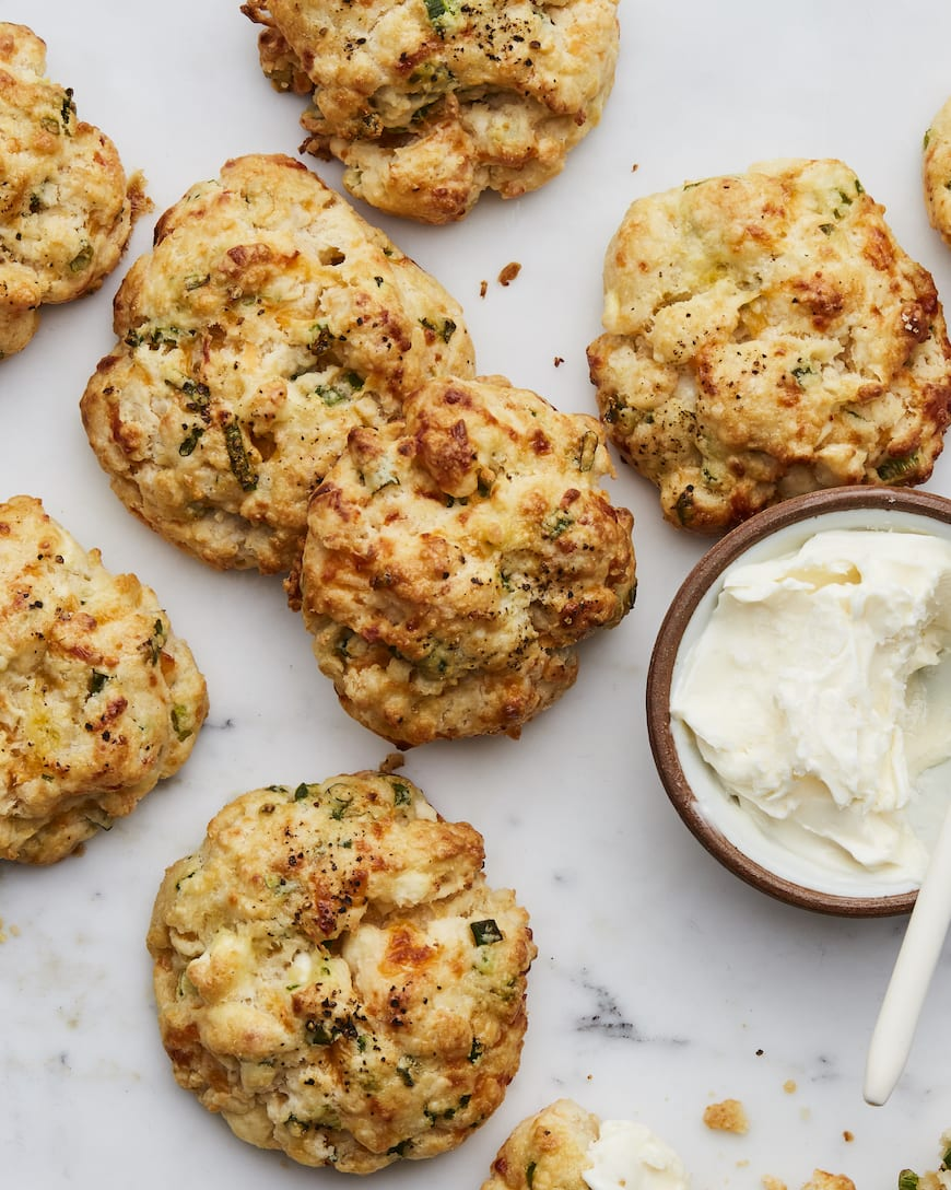 Cheese and Scallion Scones from www.whatsgabycooking.com (@whatsgabycookin)