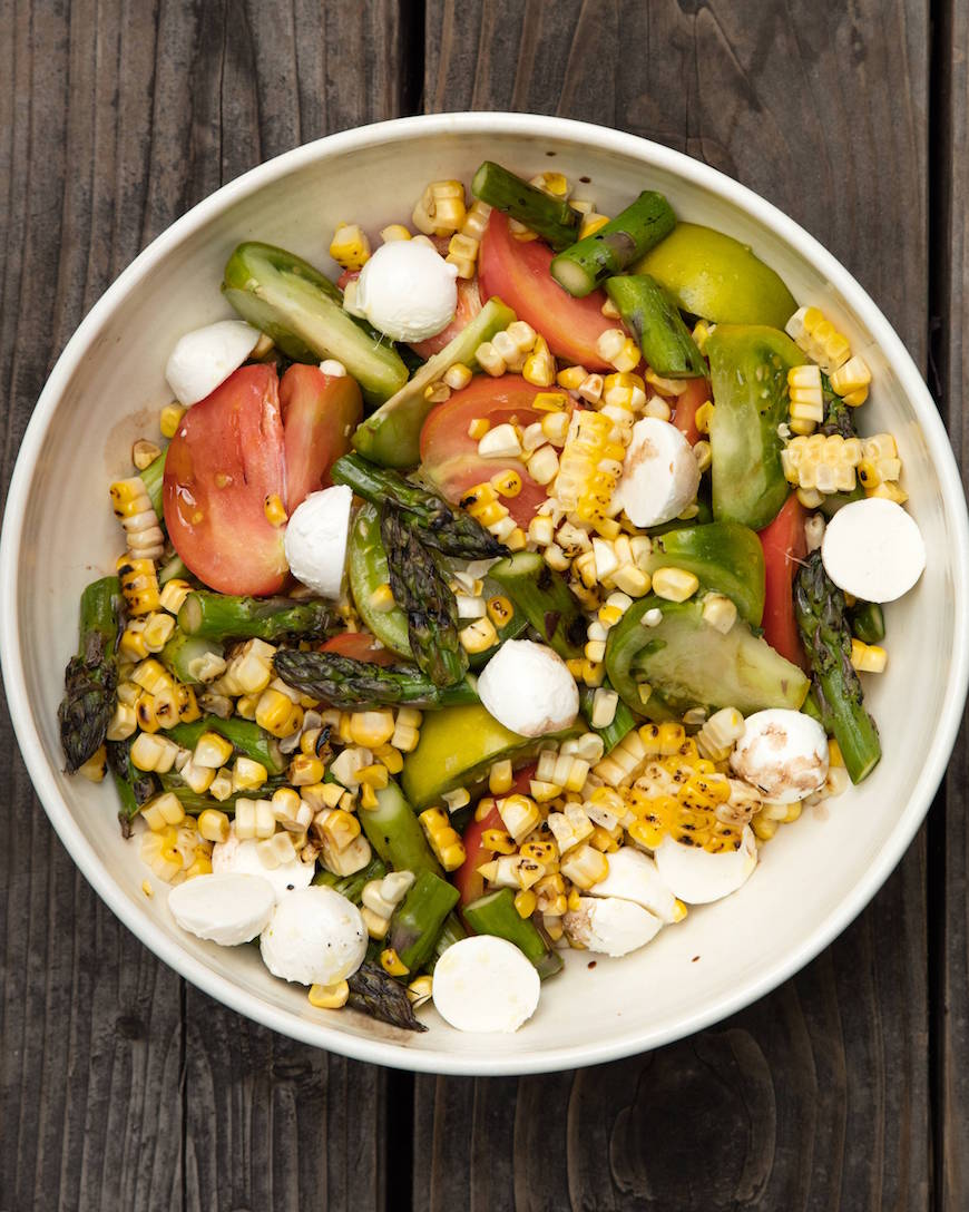 Asparagus, Basil and Corn Salad from www.whatsgabycooking.com (@whatsgabycookin)