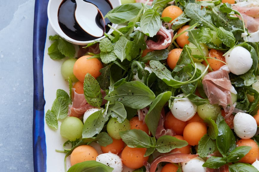 Melon and Proscuitto Salad
