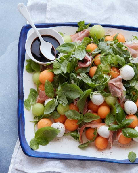 Melon and Prosciutto Salad from www.whatsgabycooking.com (@whatsgabycookin)