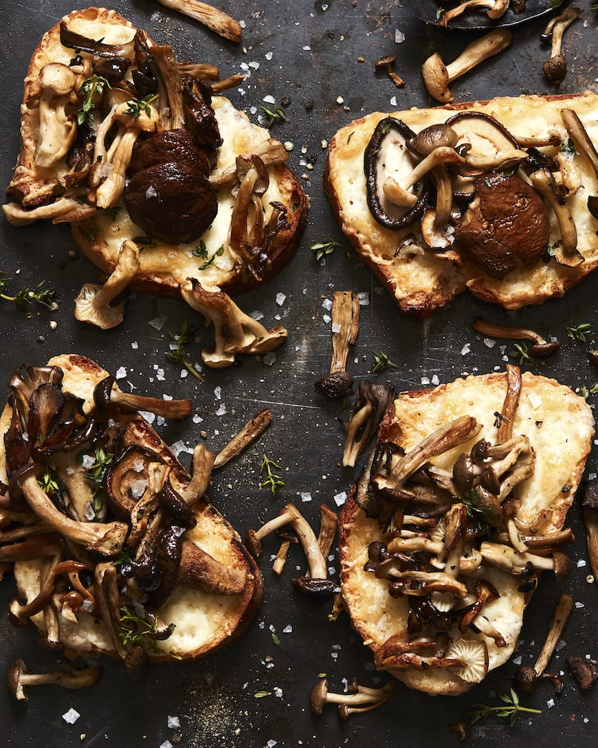 Mushroom and Fontina Tartine from www.whatsgabycooking.com (@whatsgabycookin)