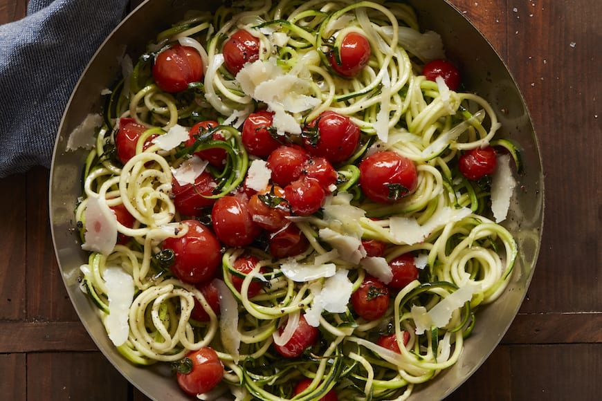 Zucchini Noodles with Roasted Tomatoes
