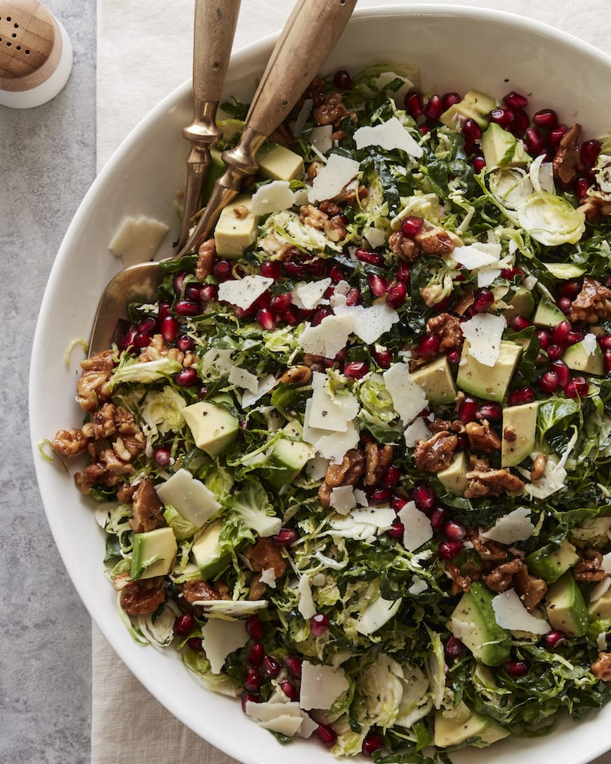 Something is. shaved brussel sprouts recipe can look