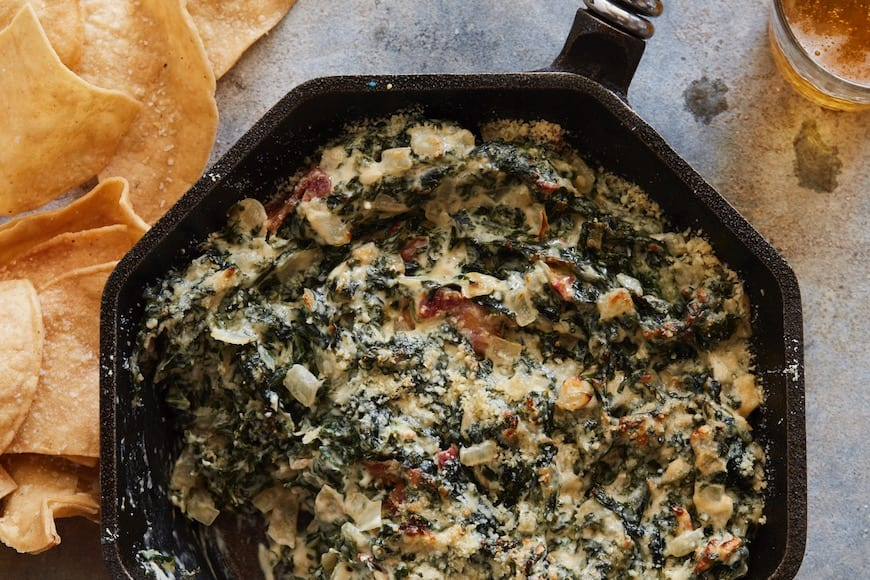 Hot Kale and Bacon Dip