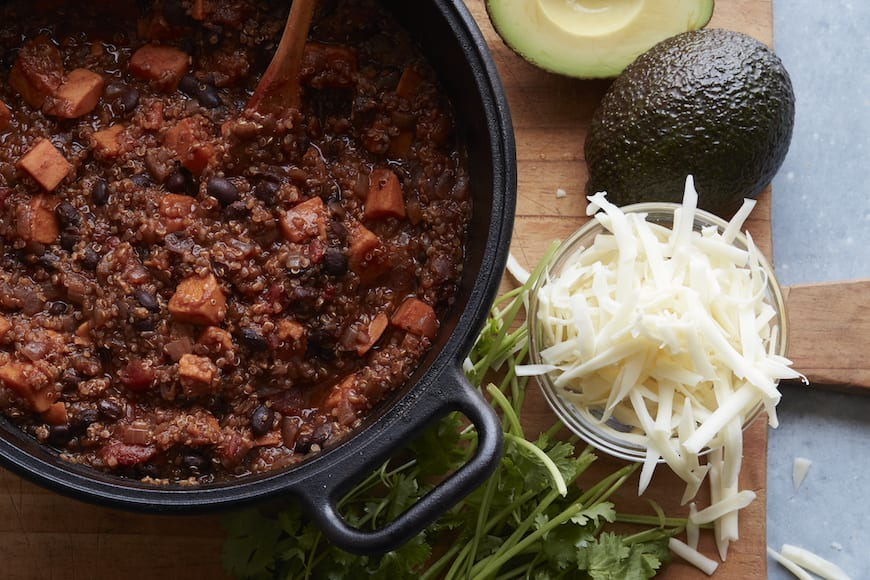 Black Bean Sweet Potato Chili from www.whatsgabycooking.com (@whatsgabycookin)