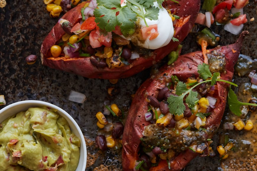 Southwestern Loaded Sweet Potatoes from www.whatsgabycooking.com (@whatsgabycookin)
