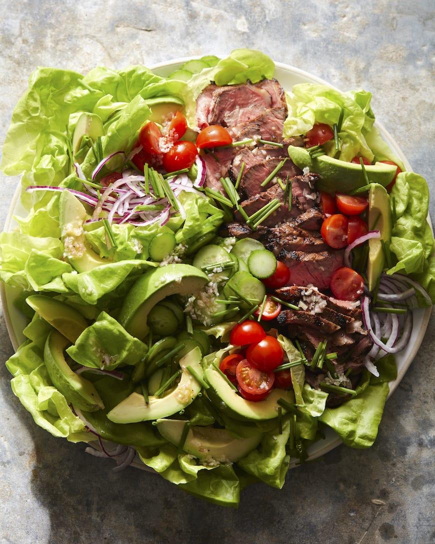 Guacamole Steak Salad from www.whatsgabycooking.com (@whatsgabycookin)