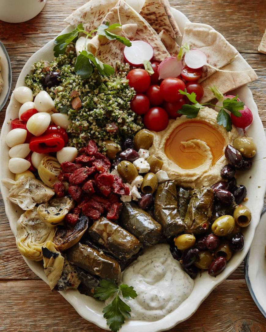 Vegetarian Mezze Platter from www.whatsgabycooking.com (@whatsgabycookin)