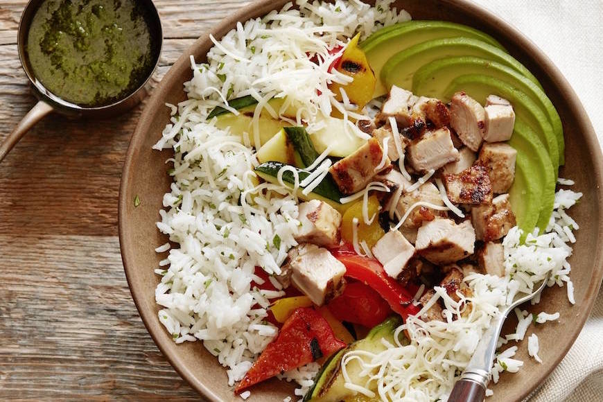 Grilled Chicken Burrito Bowl from www.whatsgabycooking.com (@whatsgabycookin)