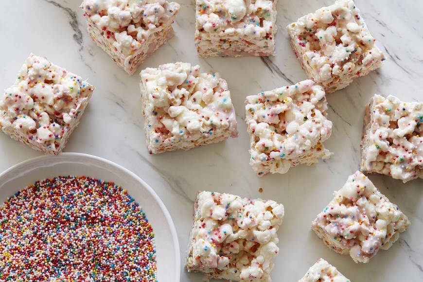 White Chocolate Sprinkle Rice Krispie Treats from www.whatsgabycooking.com (@whatsgabycookin)
