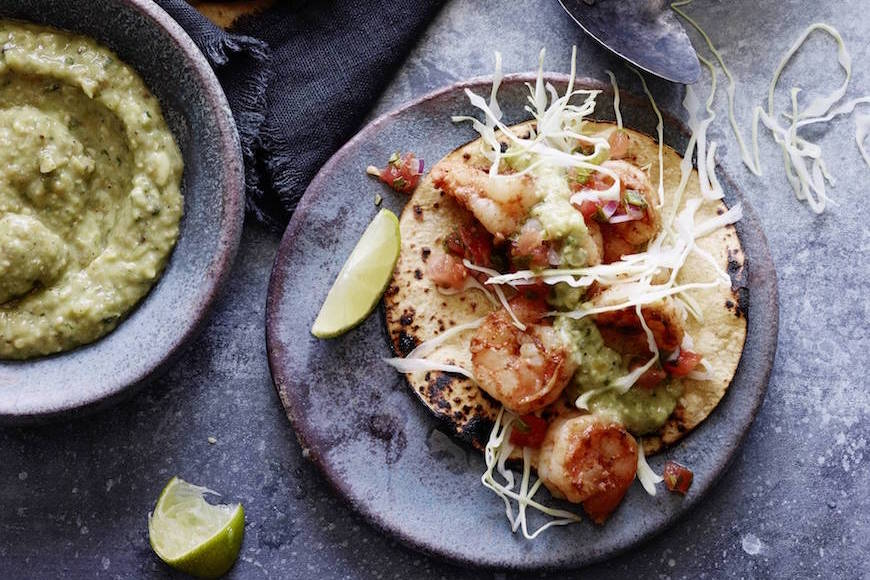Spicy Shrimp Tacos from www.whatsgabycooking.com (@whatsgabycookin)
