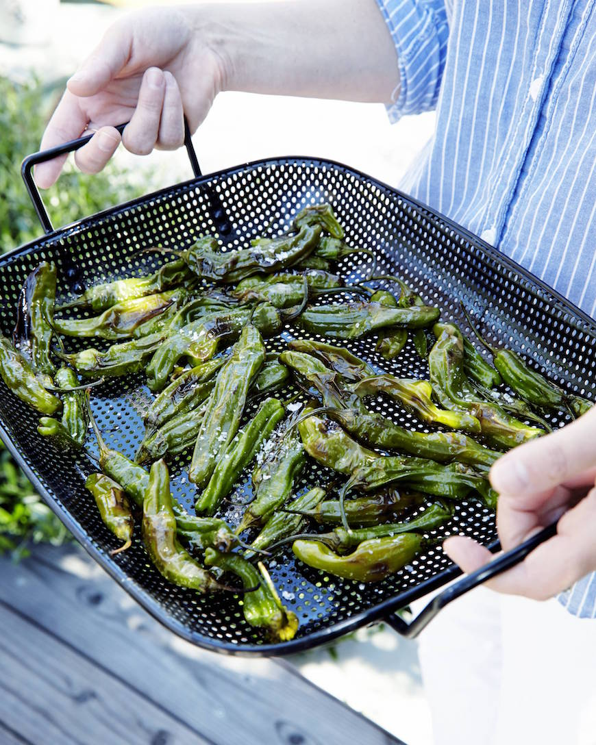Grilled Shishito Peppers from www.whatsgabycooking.com (@whatsgabycookin)