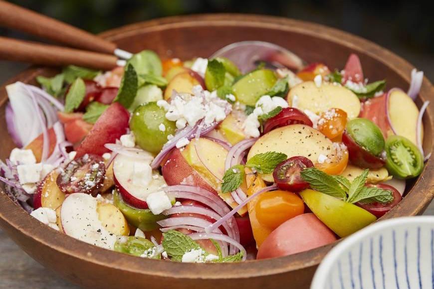 Summer Stone Fruit Salad from www.whatsgabycooking.com (@whatsgabycookin)