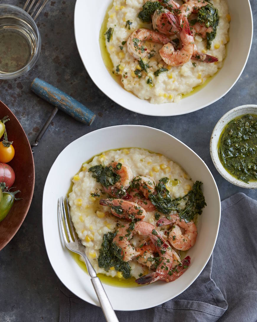 Summer Corn Risotto with Shrimp from www.whatsgabycooking.com (@whatsgabycookin)