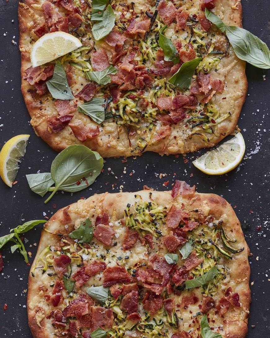 Roman Zucchini Parrano Pizza from www.whatsgabycooking.com (@whatsgabycookin)