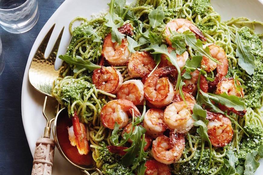 Arugula Pesto Pasta from www.whatsgabycooking.com (@whatsgabycookin)