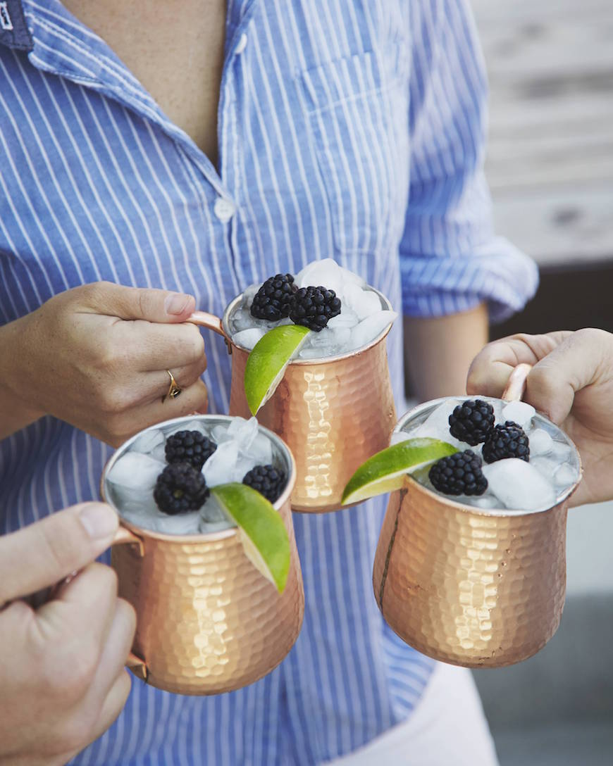 Crushed Blackberry Moscow Mules from www.whatsgabycooking.com (@whatsgabycookin)