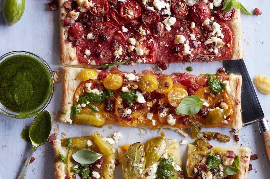 Heirloom Tomato Tart from www.whatsgabycooking.com (@whatsgabycookin)