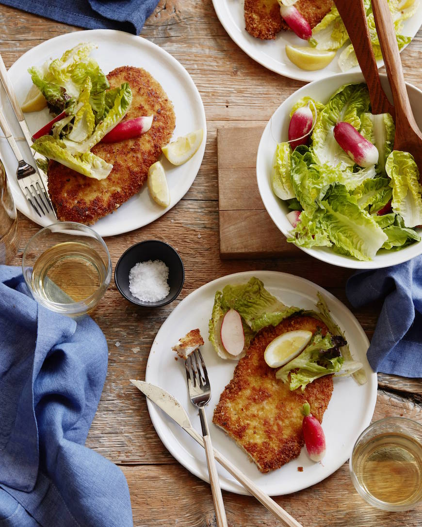 Crispy Cheesy Chicken Schnitzel from www.whatsgabycooking.com (@whatsgabycookin)