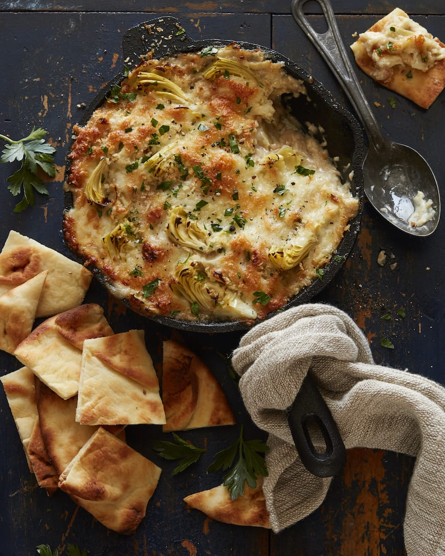 Cheesy Artichoke Dip from www.whatsgabycooking.com (@Whatsgabycookin)