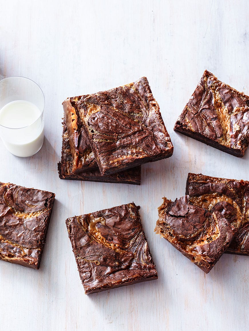 The most decadent, sweet tooth satisfying and crazy gorgeous Caramel Brownies ever baked!
