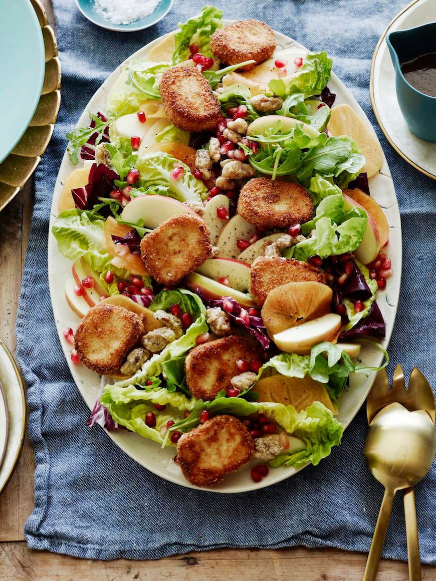 Fall Farmers Market Salad with Fried Goat Cheese