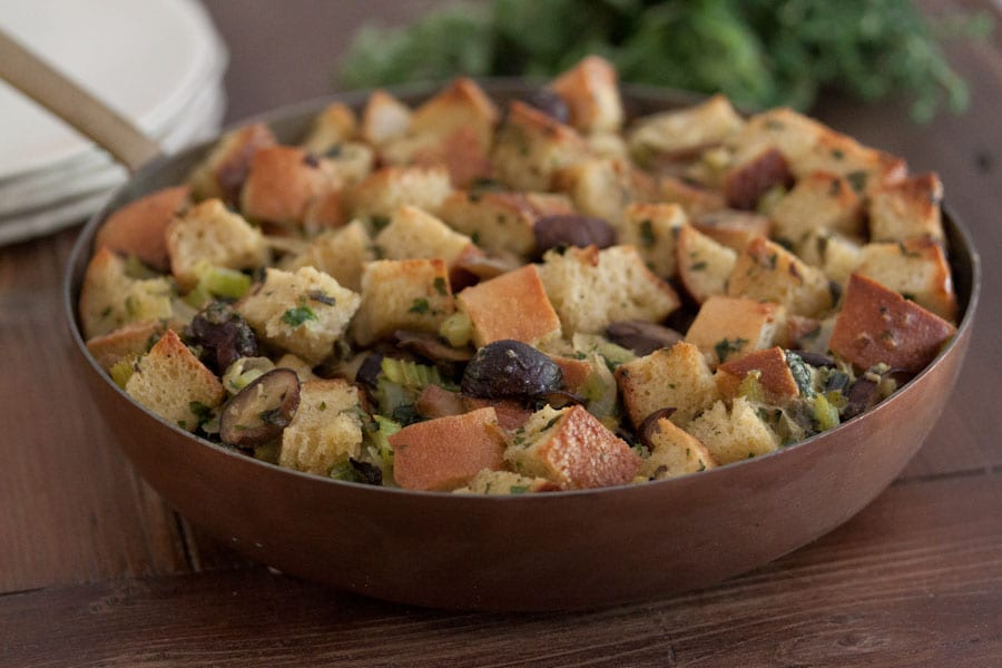 Rustic Herb Skillet Stuffing