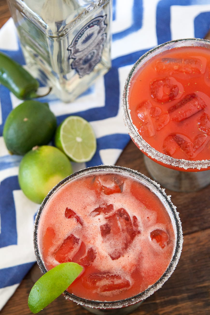 Strawberry Jalapeño Margaritas
