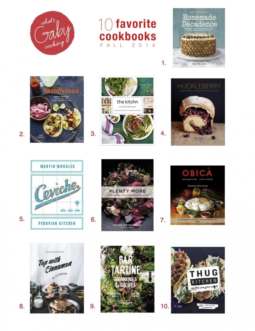 Favorite Cookbooks // Fall 2014
