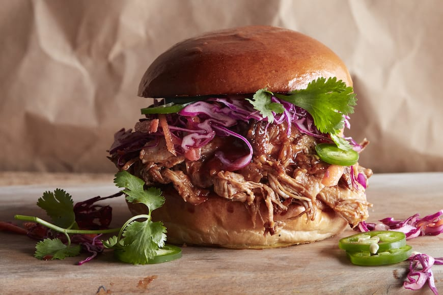 Honey BBQ Pulled Pork Burgers