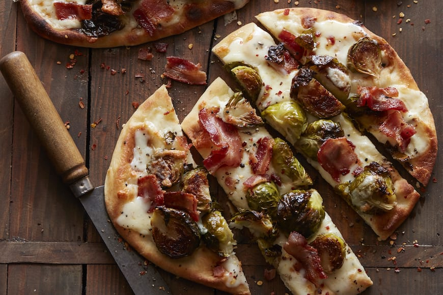 Bacon and Brussels Sprouts Flatbread