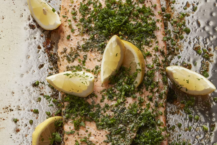 Herb Crusted Roasted Salmon