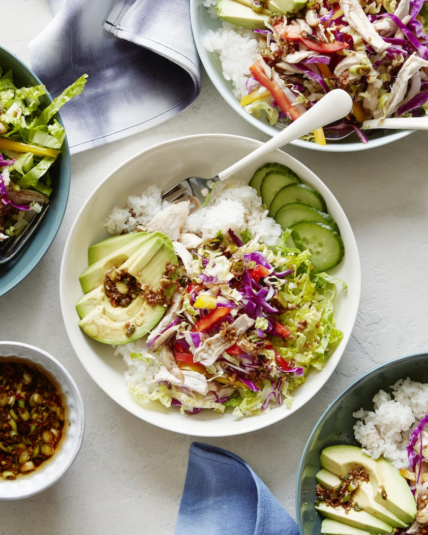Ginger Scallion Chicken Bowls from www.whatsgabycooking.com (@whatsgabycookin)