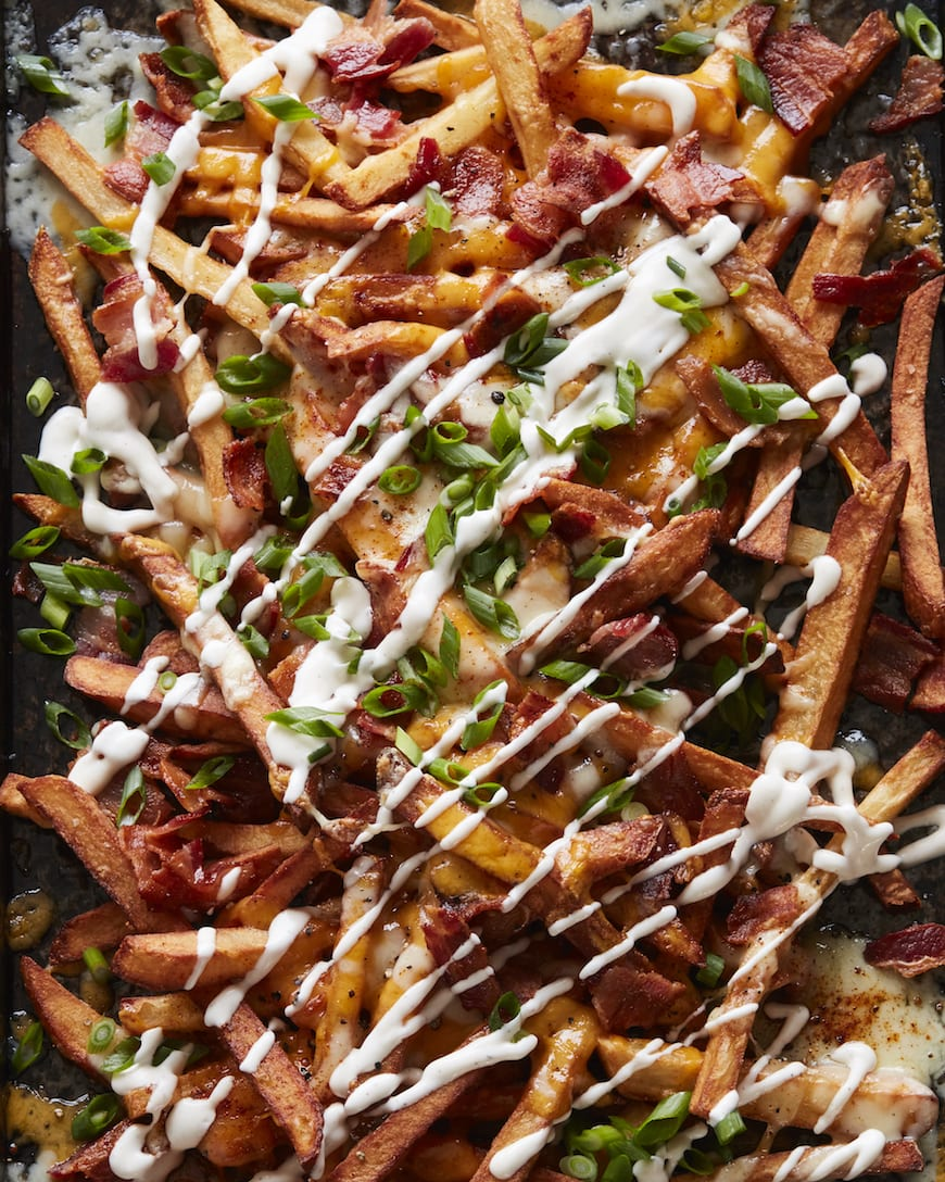 Bacon Cheddar Ranch Fries from www.whatsgabycooking.com (@whatsgabycookin)