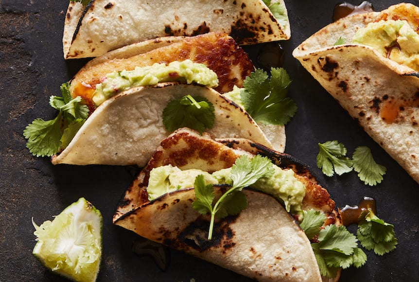 Fried Halloumi Tacos