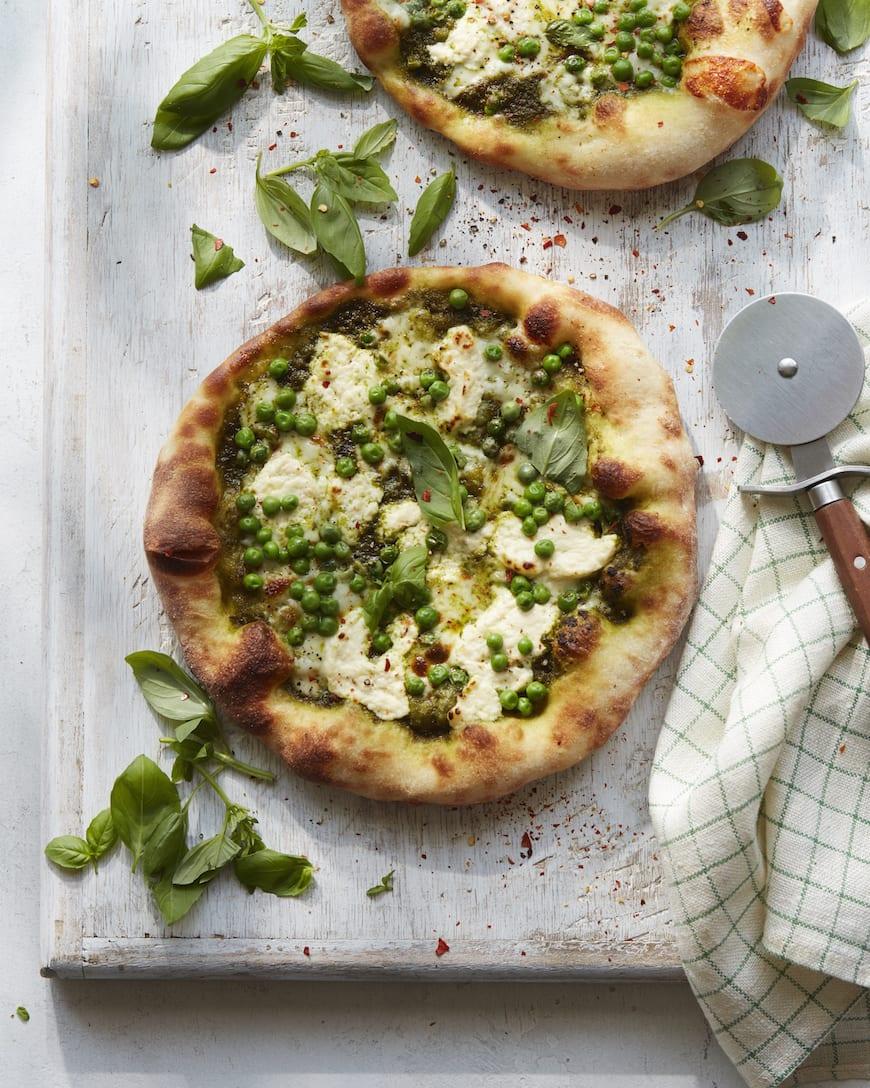 Pea Pesto Pizza from www.whatsgabycooking.com (@whatsgabycookin)