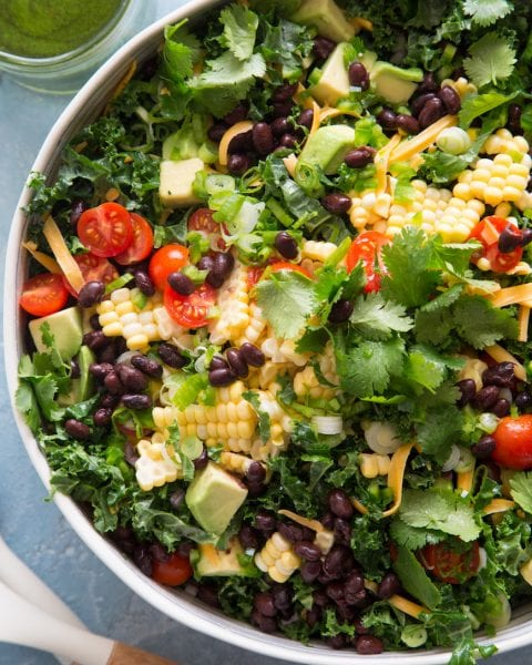 Kale Taco Salad from www.whatsgabycooking.com (@whatsgabycookin)