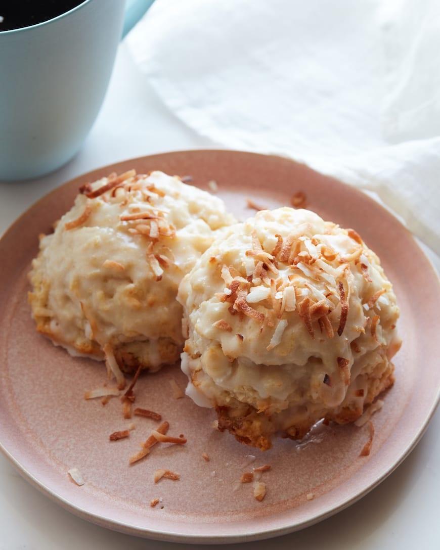 Vanilla Coconut Scones from www.whatsgabycooking.com (@whatsgabycookin)