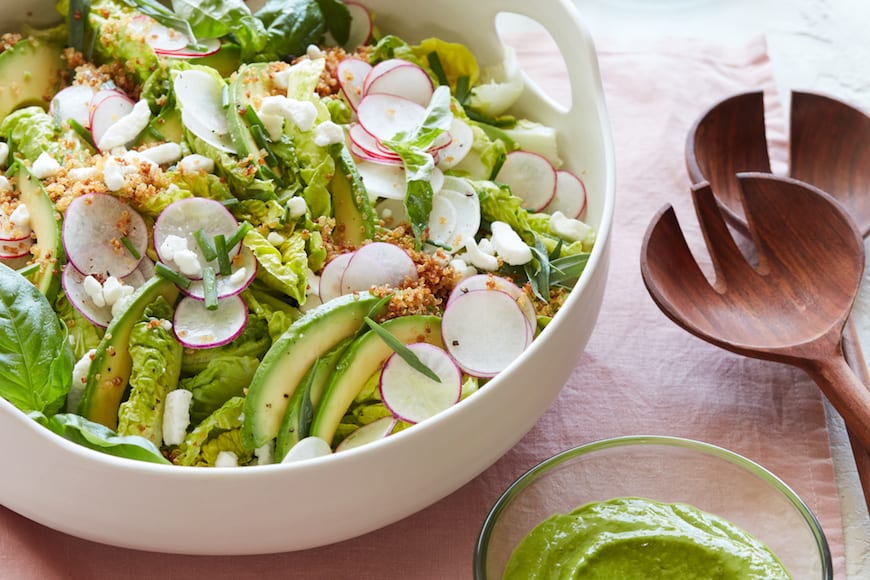 Crispy Quinoa Spring Salad