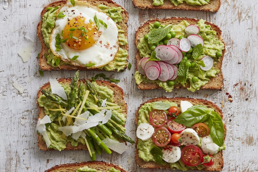 Spring Avocado Toast (4 ways)
