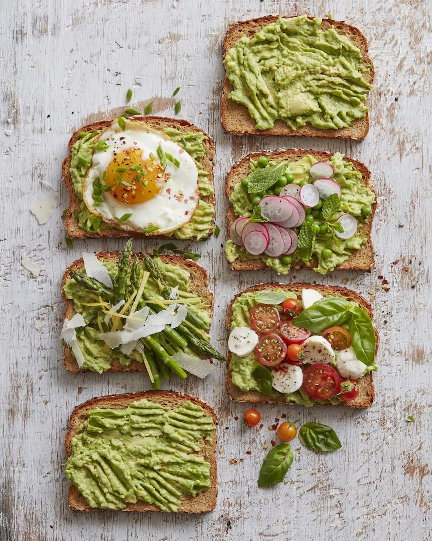 Spring Avocado Toast (4 ways) from www.whatsgabycooking.com (@whatsgabycookin)