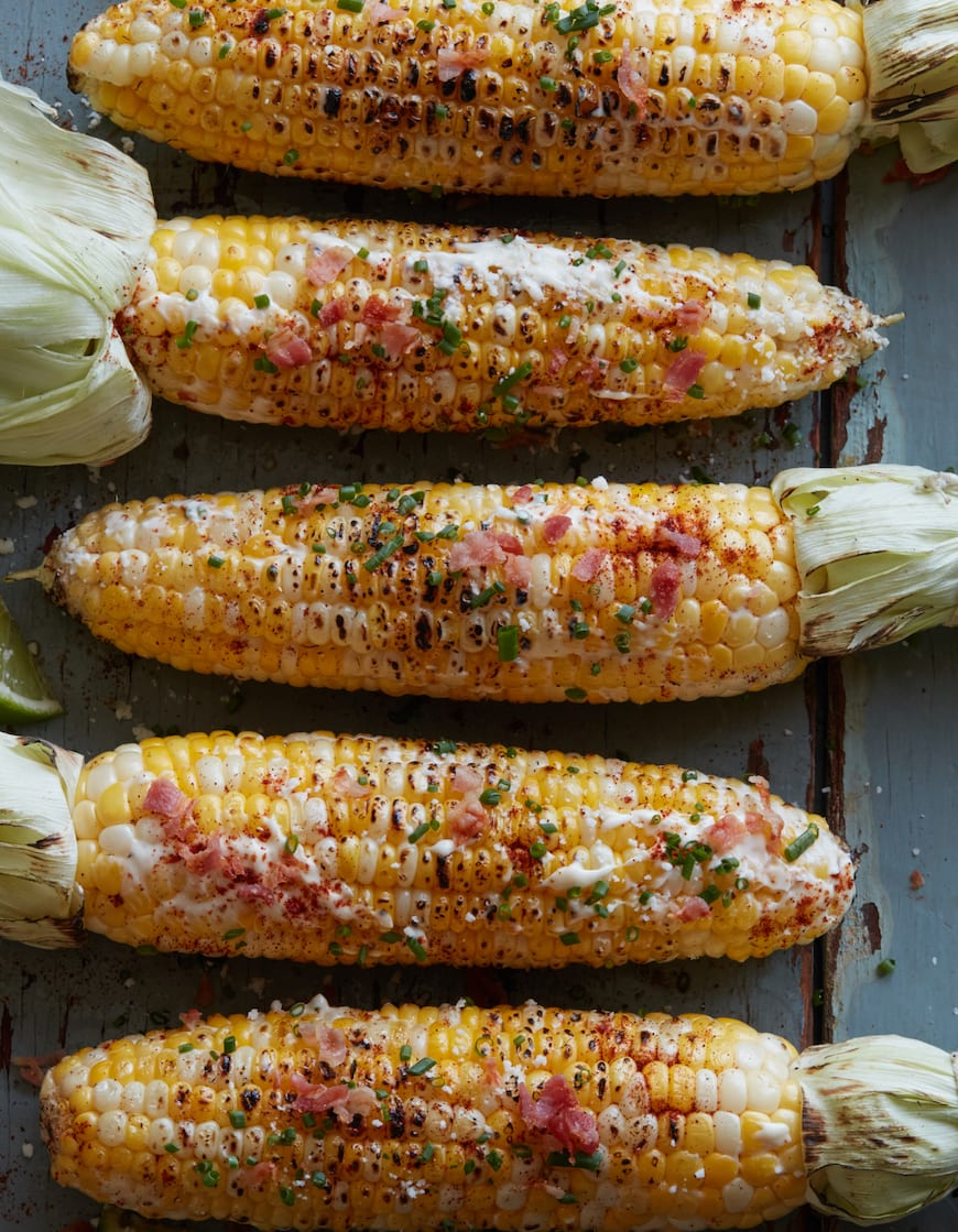Grilled Avocado Street Corn from www.whatsgabycooking.com (@whatsgabycookin)