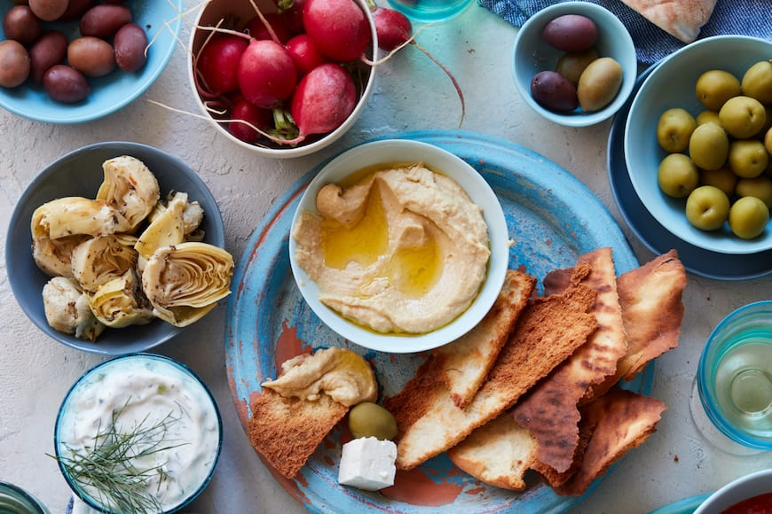 Greek Mezze Board from www.whatsgabycooking.com (@whatsgabycookin)