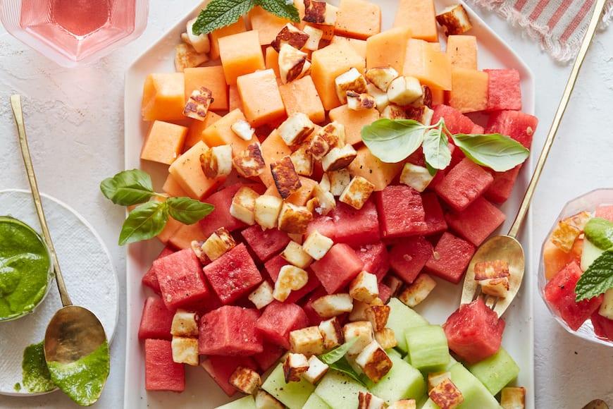 Melon Halloumi Salad