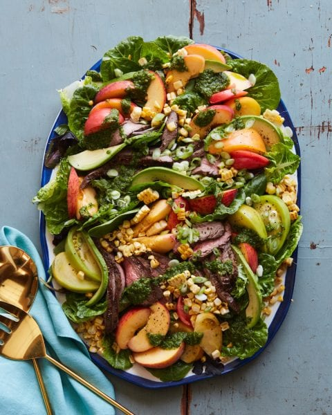Grilled Steak Summer Salad from www.whatsgabycooking.com (@whatsgabycookin)